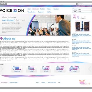 Дизайн сайта Voice on